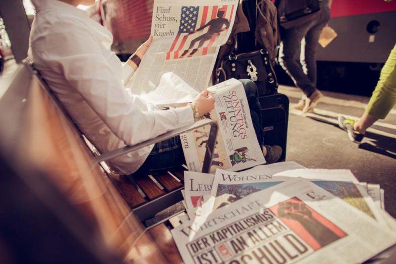Schöne Orte um die Frankfurter Allgemeine Sonntagszeitung in Frankfurt am Main zu lesen